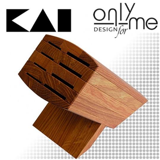 Дървена стойка за 8 броя ножове KAI