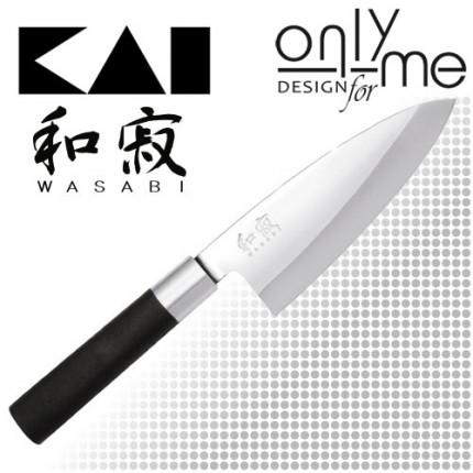 KAI WASABI BLACK Deba 6715D - Нож деба 15cm