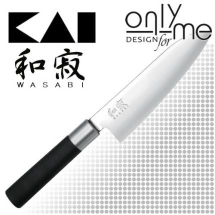 KAI WASABI BLACK Santoku 6716S - Универсален нож 16,5см