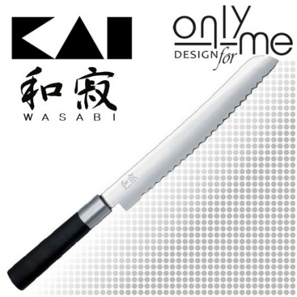 KAI WASABI BLACK Bread knife 6723B - Нож за хляб 23cm