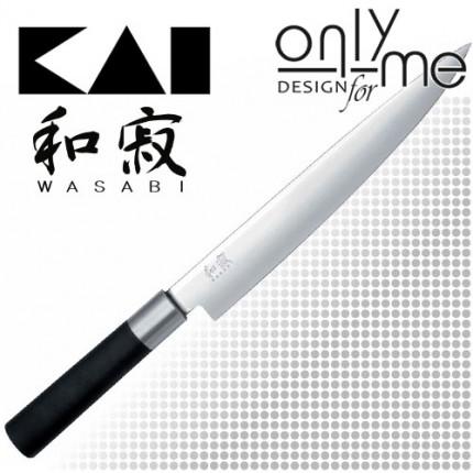 KAI WASABI BLACK Slicing knife 6723L - Нож за филетиране 23cm