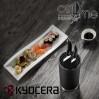 Комплект блок и 2 броя кухненски керамични ножа KYOCERA
