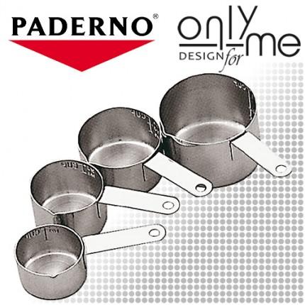 Комплект 4 броя мерителни чашки Paderno - 60/80/125/250 ml