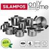 Комплект от 9 части съдове за готвене Rainbow Satin Black Silampos