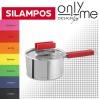 Съд за сос с капак Rainbow Satin Black Silampos - Ø20 см.