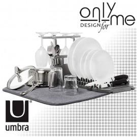 Сушилник за съдове с приставка за прибори и чаши UMBRA UDRY
