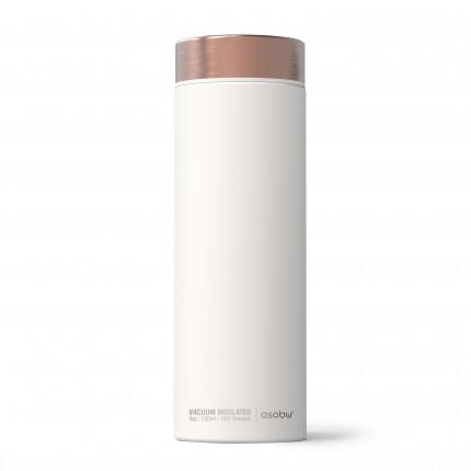 """ASOBU Двустенна термо бутилка с вакуумна изолация """"LE BATON"""" - 500 мл - цвят бял/мед"""