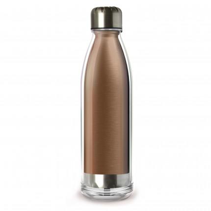 "ASOBU  Двустенна термо бутилка ""VIVA LA VIE"" - 525 мл - цвят мед"