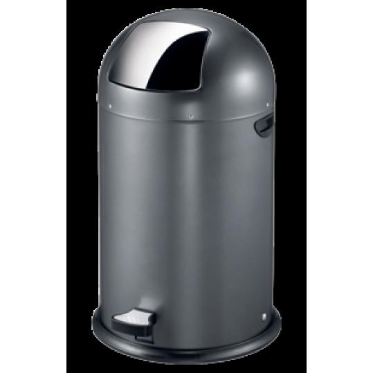 """EKO Кош за отпадъци с педал """"KICK CAN"""" - 33 литра - сив"""