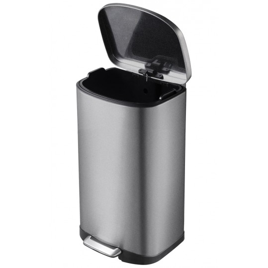 """EKO Кош за отпадъци с педал """"DELLA"""" - 50 литра - графит/инокс"""
