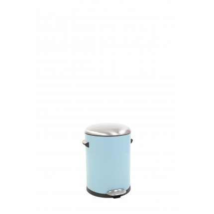 "EKO Кош за отпадъци с педал  ""BELLE DELUXE""- 3 литра - светло син"