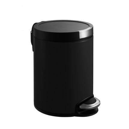 """EKO Кош за отпадъци с педал """"ARTISTIC"""" - 5 литра - черен"""