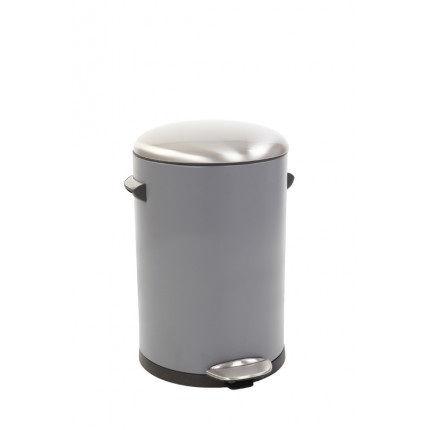 "EKO Кош за отпадъци с педал  ""BELLE DELUXE""- 12 литра - сив"