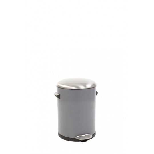 "EKO Кош за отпадъци с педал  ""BELLE DELUXE""- 5 литра - сив"