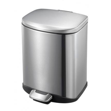 """EKO Кош за отпадъци с педал """"DELLA"""" - 6 литра - мат"""