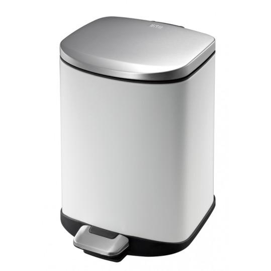 """EKO Кош за отпадъци с педал """"DELLA"""" - 6 литра - бял"""