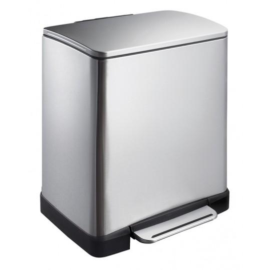 """EKO Кош за отпадъци с педал """"E-CUBE"""" - 30 литра - мат"""