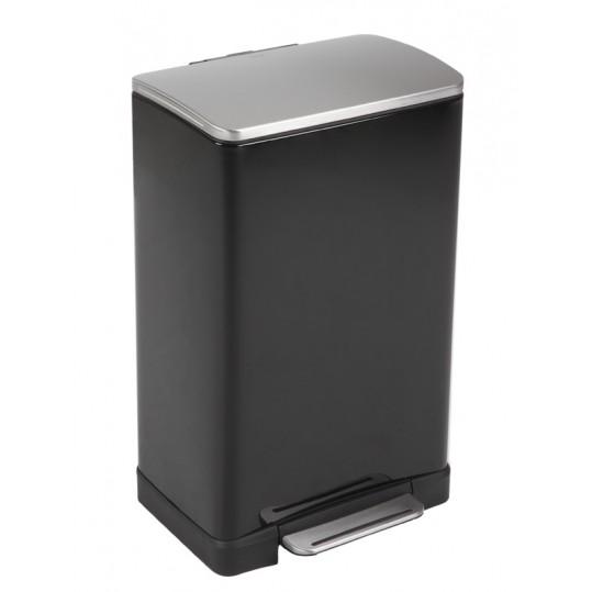 """EKO Кош за отпадъци с педал """"E-CUBE"""" - 40 литра - черен"""
