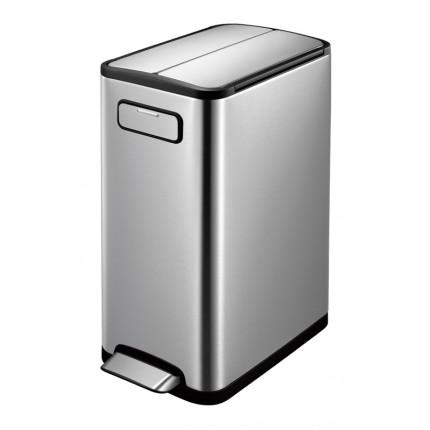 """EKO Кош за разделно събиране на отпадъци с педал """"ECOFLY"""" - 2 х 20 литра - мат"""