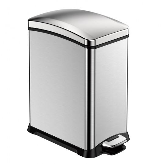 """EKO Кош за събиране на отпадъци с педал """"NEW REJOICE"""" -15 литра - мат"""
