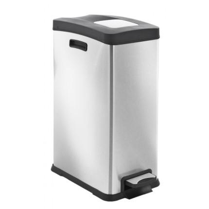 """EKO Кош за събиране на отпадъци с педал """"REJOICE"""" - 30 литра - мат"""