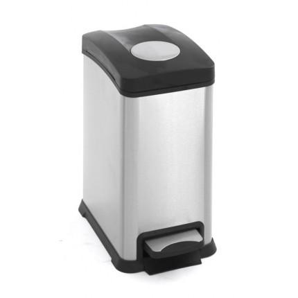 """EKO Кош за събиране на отпадъци с педал """"REJOICE"""" - 12 литра - мат"""