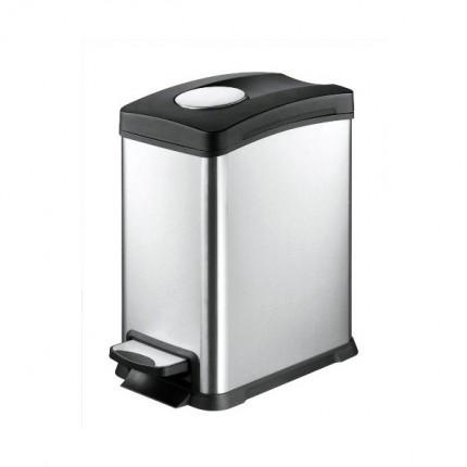 """EKO Кош за събиране на отпадъци с педал """"REJOICE"""" - 8 литра - мат"""