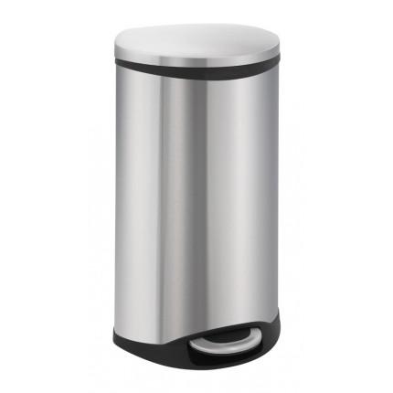 """EKO Кош за отпадъци с педал """"SHELL"""" - 30 литра - мат"""