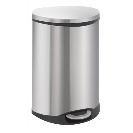 """EKO Кош за разделно събиране на отпадъци с педал """"SHELL"""" - 2 х 22 литра - мат"""