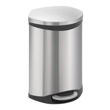 """EKO Кош за отпадъци с педал """"SHELL"""" - 10 литра - мат"""