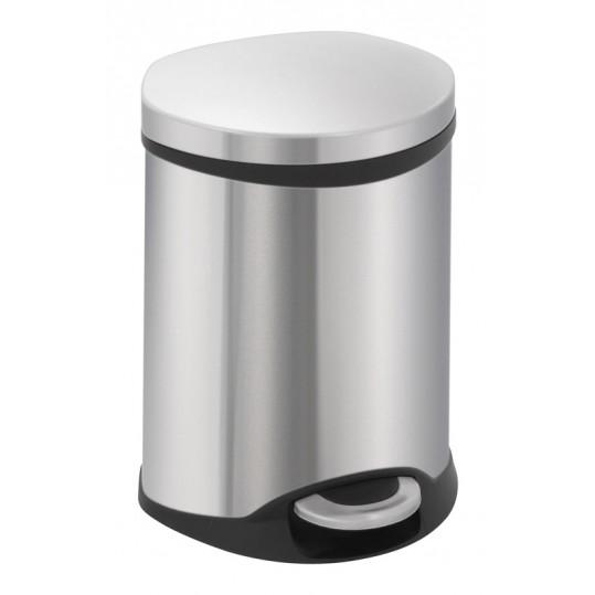 """EKO Кош за отпадъци с педал """"SHELL"""" - 6 литра - мат"""