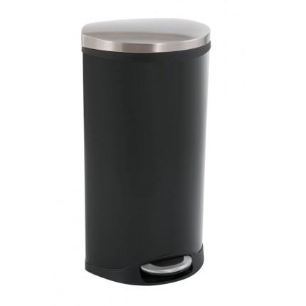 """EKO Кош за отпадъци с педал """"SHELL"""" - 30 литра - черен"""