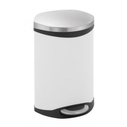"""EKO Кош за отпадъци с педал """"SHELL"""" - 10 литра - бял"""