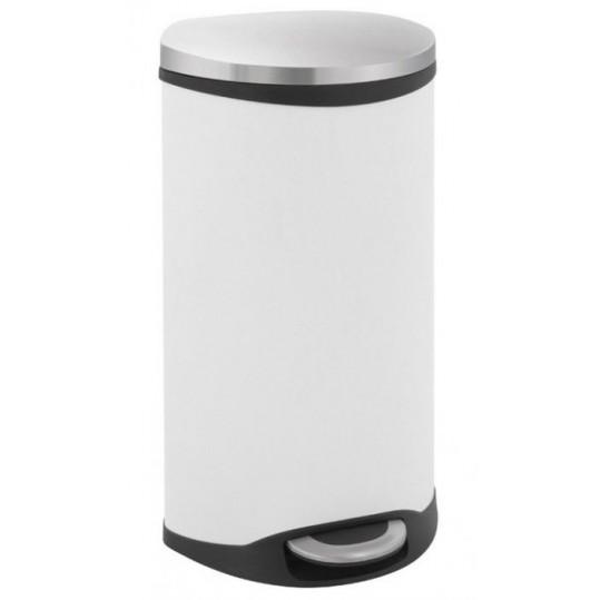 """EKO Кош за отпадъци с педал """"SHELL"""" - 30 литра - бял"""