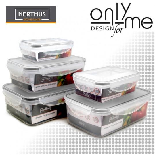 Комплект 5бр кутии за храна BRA Free Nerthus - 500 - 1500ml