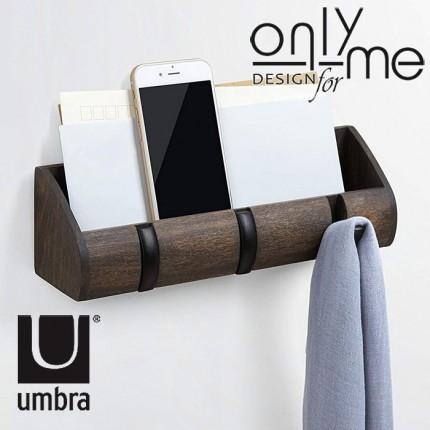 UMBRA 1004250-048 Закачалка за стена UMBRA CUBBY MINI - дърво кафяв