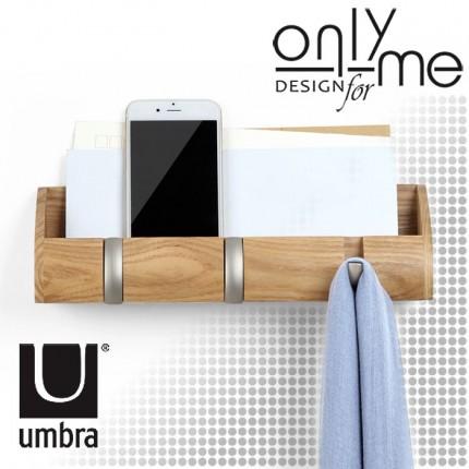 UMBRA 1004250-390 Закачалка за стена UMBRA CUBBY MINI - дърво натурал